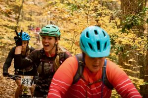 Mountain biking in Johnson City, Tennessee with Sherri Cole