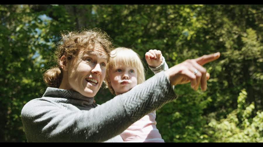 Garneau Role Model Georgia Gould with daughter Quinn