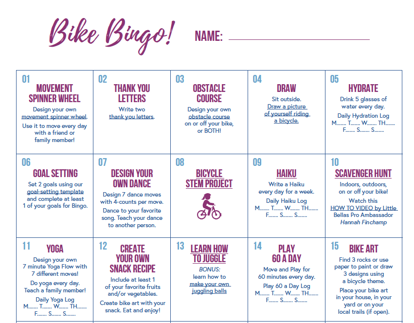 Play Bike Bingo With Us!