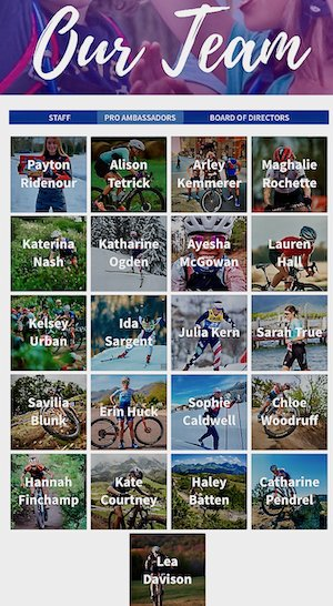 Our team includes 21 Pro Ambassadors who are vital to the spirit of Little Bellas